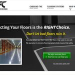 website design for flooring contractor
