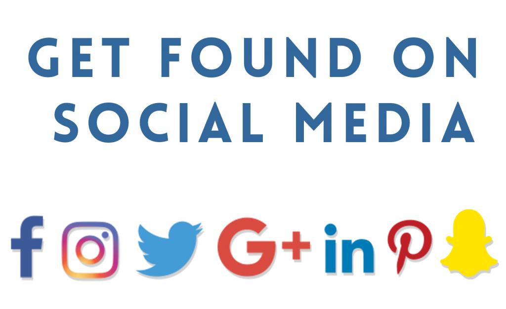 get found on social media