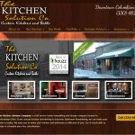 website design for kitchen remodeling contractor